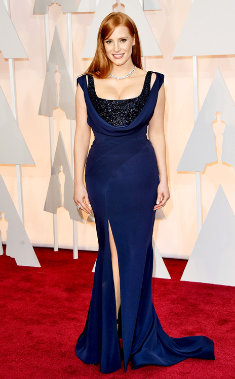 Jessica Chastain_Atelier Versace_Oscars 2015